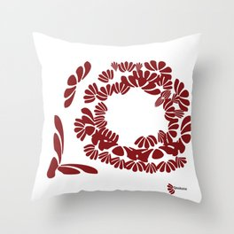 Brick Red: a strong foundation Throw Pillow