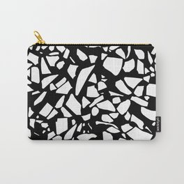 Terrazzo White on Black Carry-All Pouch