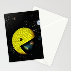 Pacman Eating the World Stationery Cards