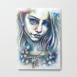 Blueberry Binge Metal Print