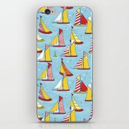 seagulls and sails iPhone Skin