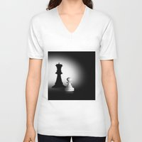 chess V-neck T-shirts featuring Pion Chess by ArtSchool