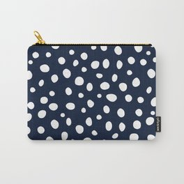 Nautical Dots Navy White Modern Carry-All Pouch