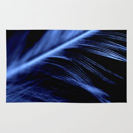 Blue Feather close up Rug
