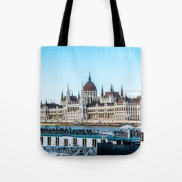Cityscape of Budapest Tote Bag