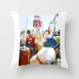 buoys photography Throw Pillow