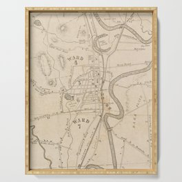 Vintage Map of Concord NH (1855) Serving Tray