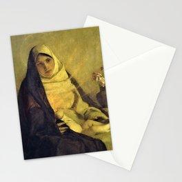 12,000pixel-500dpi - Madonna of the Rose - Pascal Dagnan-Bouveret Stationery Cards