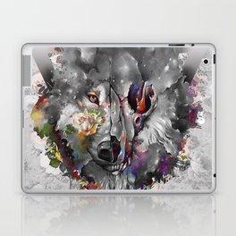 floral wolf 3 Laptop & iPad Skin