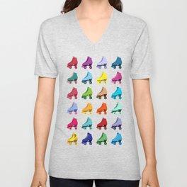 Rainbow Roller Skatin' Unisex V-Neck