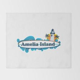 Amelia Island - Florida. Throw Blanket