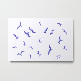 Blue seabirds by #Bizzartino Metal Print
