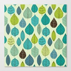 pattern with leaf Canvas Print
