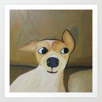 Curious dog Art Print