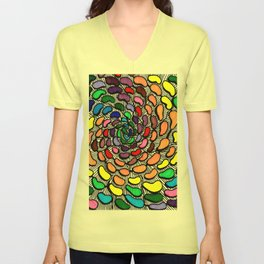 The Jelly Bean Explosion Unisex V-Neck