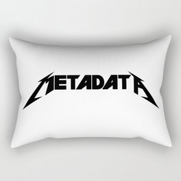 Metadata - Black Edition Rectangular Pillow