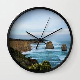 Twelve Apostles in Blue Wall Clock