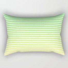 Beach Blanket - Green/Yellow Stripes Rectangular Pillow