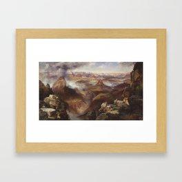Thomas Moran - Grand Canyon of the Colorado River Framed Art Print