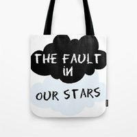 the fault in our stars Tote Bags featuring The Fault In Our Stars by swiftstore