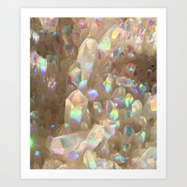 Unicorn Horn Aura Crystals Art Print