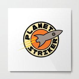 Planet Striker Metal Print