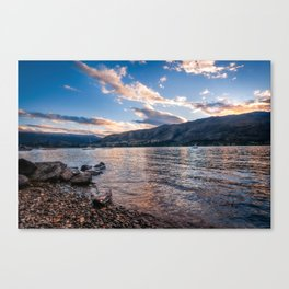 Sunset at Lake Wanaka, New Zealand Canvas Print