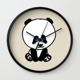 Chalkies panda color 6 Wall Clock