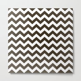 Cola Safari Chevron Metal Print