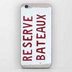 Reserve Bateaux, Côte d'Azur, French Riviera iPhone & iPod Skin