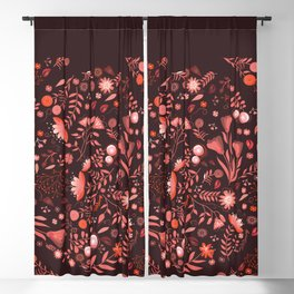 Coral flowers Blackout Curtain
