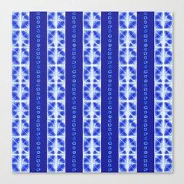 Shibori strips Canvas Print