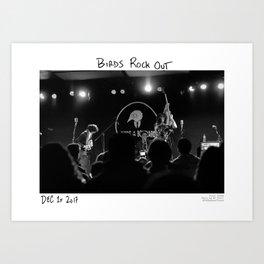 Birds in the Boneyard, Print Seven: Birds Rock Out! Art Print
