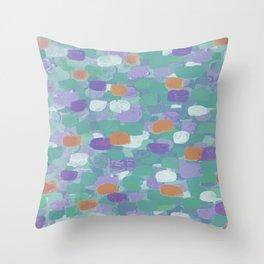 Confetti Cake - teal tones Throw Pillow