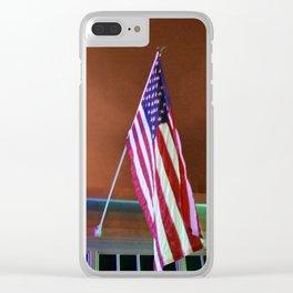 Patriotic at dusk Clear iPhone Case