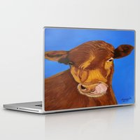 cow Laptop & iPad Skins featuring Cow by maggs326
