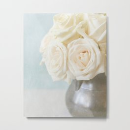 Farmhouse Roses Metal Print