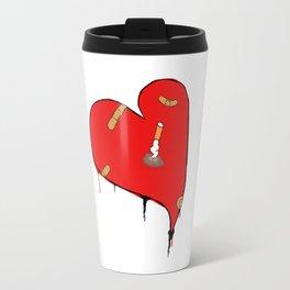 Heart and cigarette Travel Mug