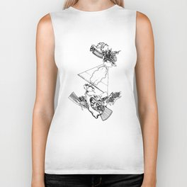 intergalactic flight Biker Tank