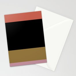 Contemporary Color Block IV Stationery Cards