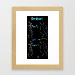 Fist Bump! Framed Art Print