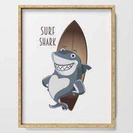 surf shark Serving Tray