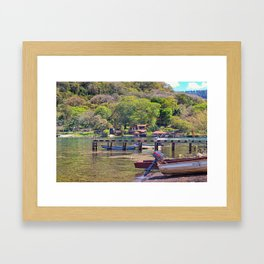 Gold lake Framed Art Print