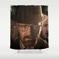 breaking bad Shower Curtains featuring Breaking Bad by SB Art Productions