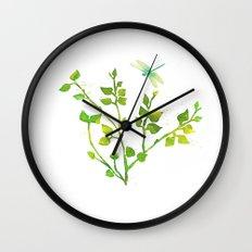 Dragonfly Three  Wall Clock