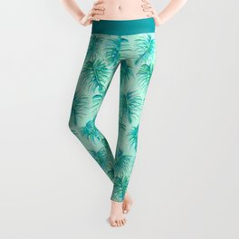 Paradise Palms Mint Leggings