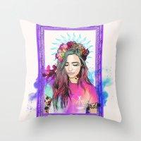 libra Throw Pillows featuring Libra by Sara Eshak