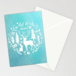 Let it snow! Christmas illustration Stationery Cards