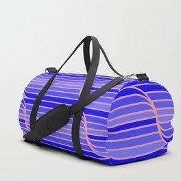 Geo Stripes - Cobalt Blue Duffle Bag