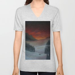 A Winter Wonderland Unisex V-Neck